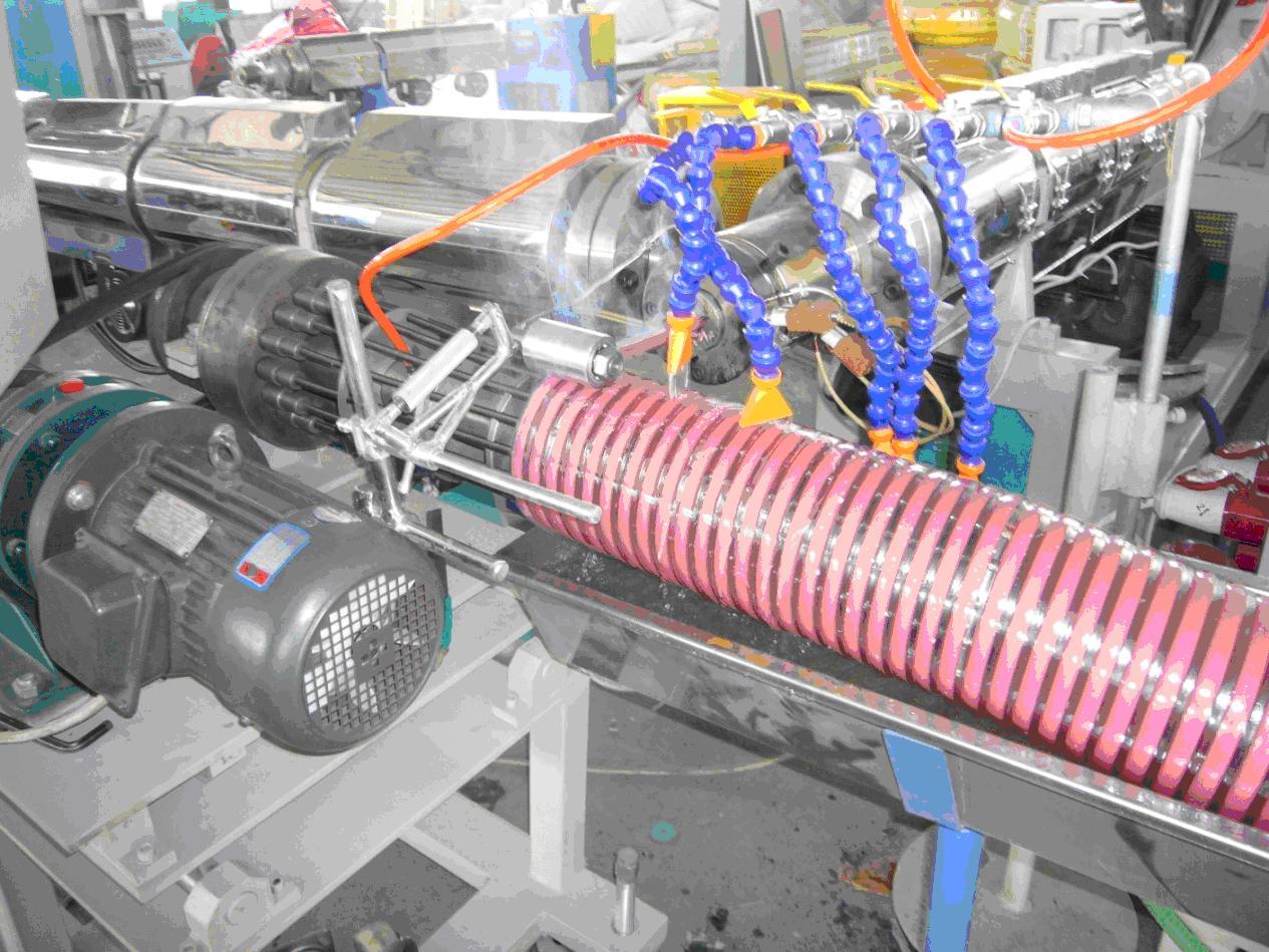 PVC Helix Reinforced Hose Extrusion Line